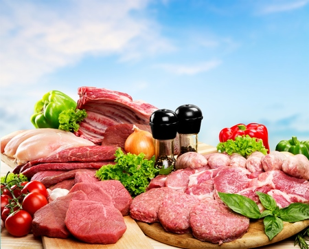 white meat: Meat, Freshness, Butchers Shop.