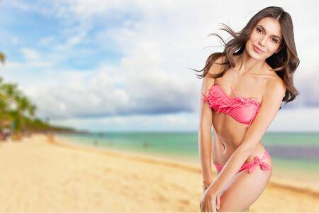 Bikini, Mädchen, Modell.