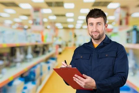 service occupation: Mechanic, Auto Mechanic, Manual Worker. Stock Photo