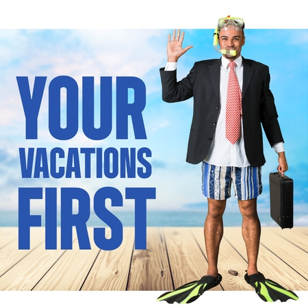 things that go together: Your, vactions, first. Stock Photo