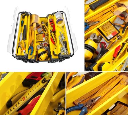 work tool: Toolbox, Drill, Work Tool.