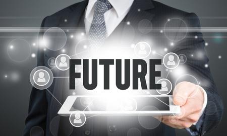 future sign: Future, technology, man.