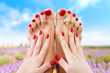 manos y pies: Spa, primer plano, aislado.