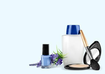 productos de aseo: Cosméticos, maquillaje, artículos de tocador. Foto de archivo