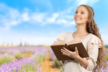 bible: Bible, Praying, Women. Stock Photo