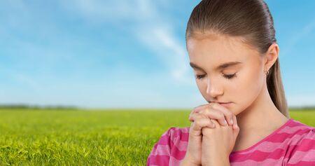 Praying, Child, Religion.