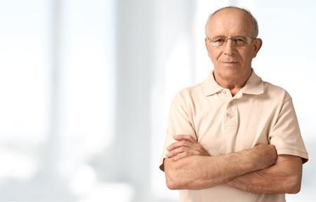 Senioren mannen, Geïsoleerde, Bejaard. Stockfoto - 42302783