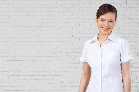 professional occupation: Businesswoman, Women, Professional Occupation. Stock Photo
