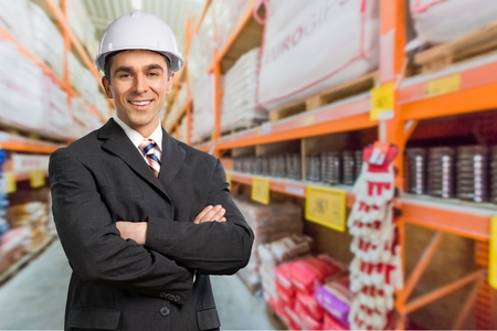contracting: Black, Construction, Engineer. Stock Photo