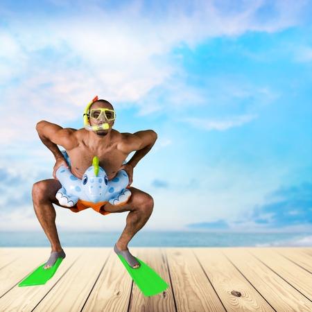 Jumping, Bizarre, Beach.