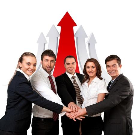 way forward: Arrow Sign, The Way Forward, Strategy. Stock Photo