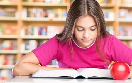 školačka: Čtení, dítě, kniha.
