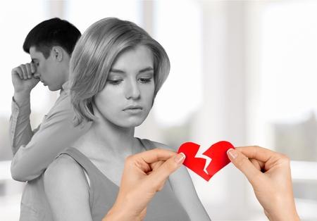 Heart Shape, Broken, Divorce.