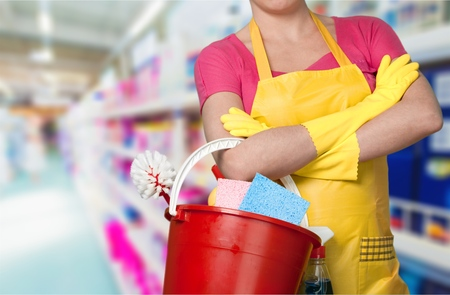 domestic staff: Cleaning, Maid, Women. Stock Photo
