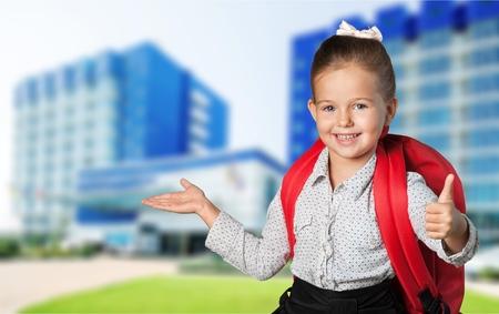 School, first, uniform. Stock Photo
