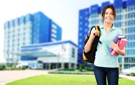 classbook: Student, walk, teen.