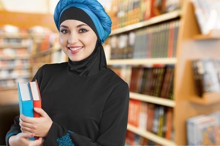 fille arabe: Arabe, arabe, étudiant.