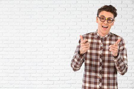 eyecontact: Nerd, Glasses, Teenager.
