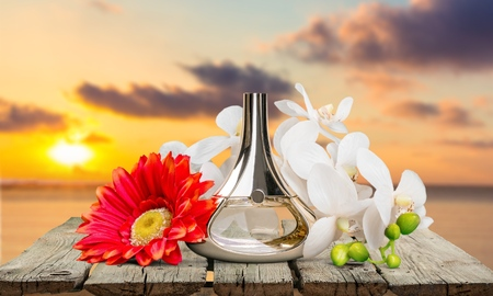 allurement: Perfume, Scented, Bottle. Stock Photo