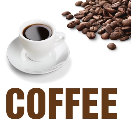 coffee in the cup: Coffee, Cup, Black Coffee.