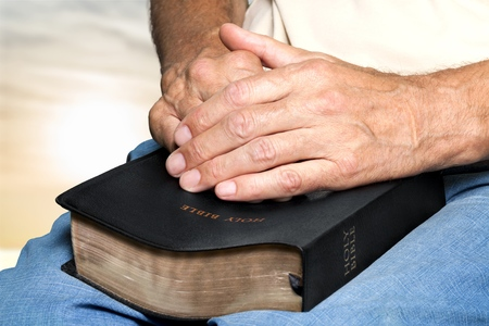 geriatrics: Bible, Human Hand, Praying.