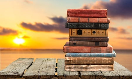 Books, old, stacked. Stock Photo - 42304919