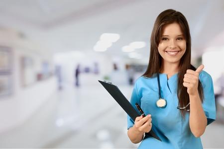 nurse uniform: Nurse, Doctor, Healthcare And Medicine. Stock Photo