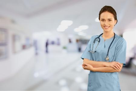 healthcare and medicine: Nurse, Doctor, Healthcare And Medicine. Stock Photo