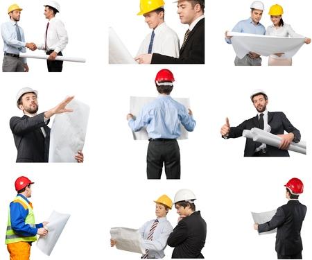 architect: Engineer, Construction, Architect. Stock Photo