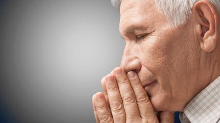 worshipper: Praying, People, Senior Adult.