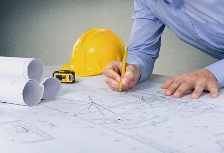 architect: Architect, engineer, designer. Stock Photo