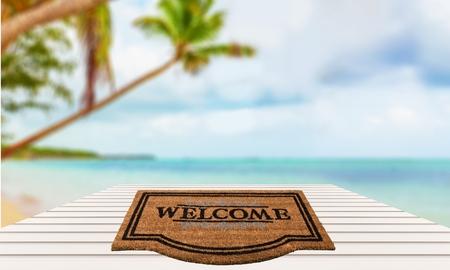 welcome sign: Paillasson, Panneau de bienvenue, voeux.