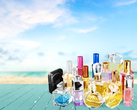 sprayer: Perfume, Scented, Perfume Sprayer. Stock Photo