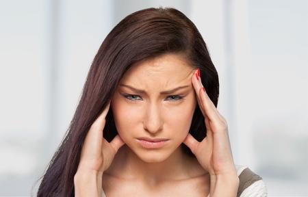 woman headache: Headache, woman, Emotional Stress.