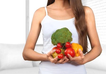 vida sana: Mujeres, Estilo de vida saludable, alimentación saludable. Foto de archivo