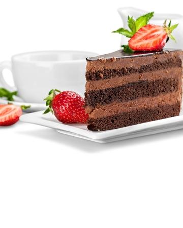 cake slice: Food, plate, cake. Stock Photo
