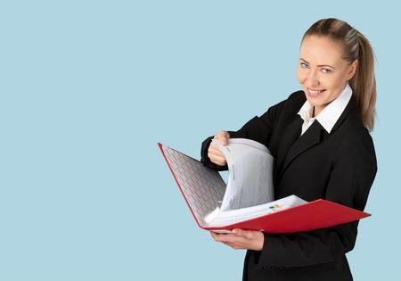 file clerk: Woman, Business, File.