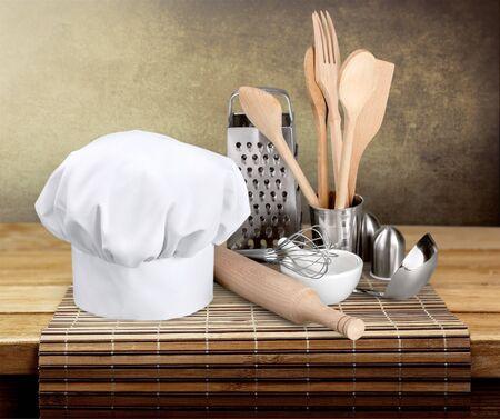 sifter: Chefs Hat, Kitchen Utensil, Hat.