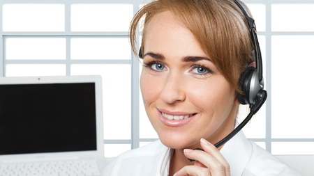 customer service representative: Women, Customer Service Representative, Service. Stock Photo