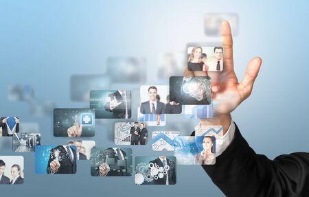 multimedia: Cloud, business, multimedia. Stock Photo