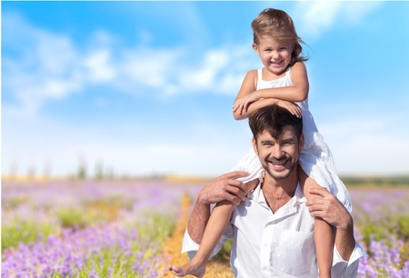 father daughter: Father, child, dad. Stock Photo