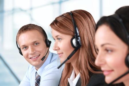 Représentant à la clientèle, Centre d'appels, Service. Banque d'images