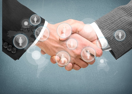 trust: Handshake, Finance, Trust. Stock Photo
