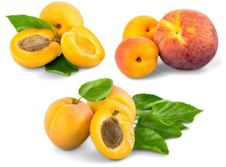 bisected: Apricot, Fruit, Healthy Eating.