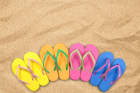 flipflop: Summer, Beach, Flip-flop. Stock Photo