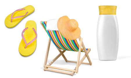 single object: Flip-flop, Yellow, Single Object. Stock Photo