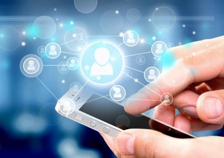 携帯電話、スマート電話、技術。