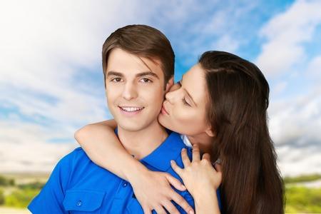 heterosexual: Couple, Heterosexual Couple. Stock Photo