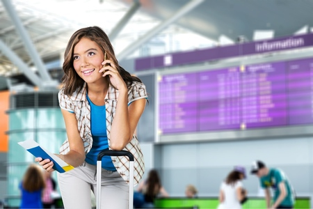 domestic garage: Airport, Woman, Tourist.