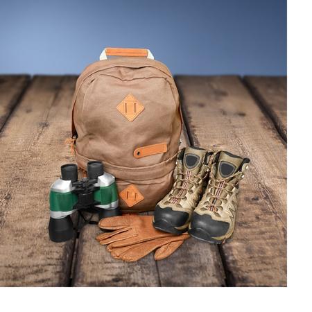 packer: Hiking, Travel, Equipment. Stock Photo